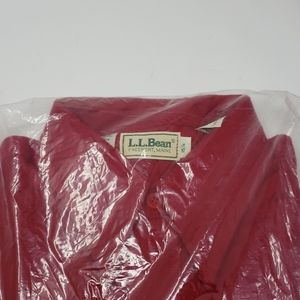 "LL Bean Red Chamois Flannel Shirt Mens Sz 15.5""/M"